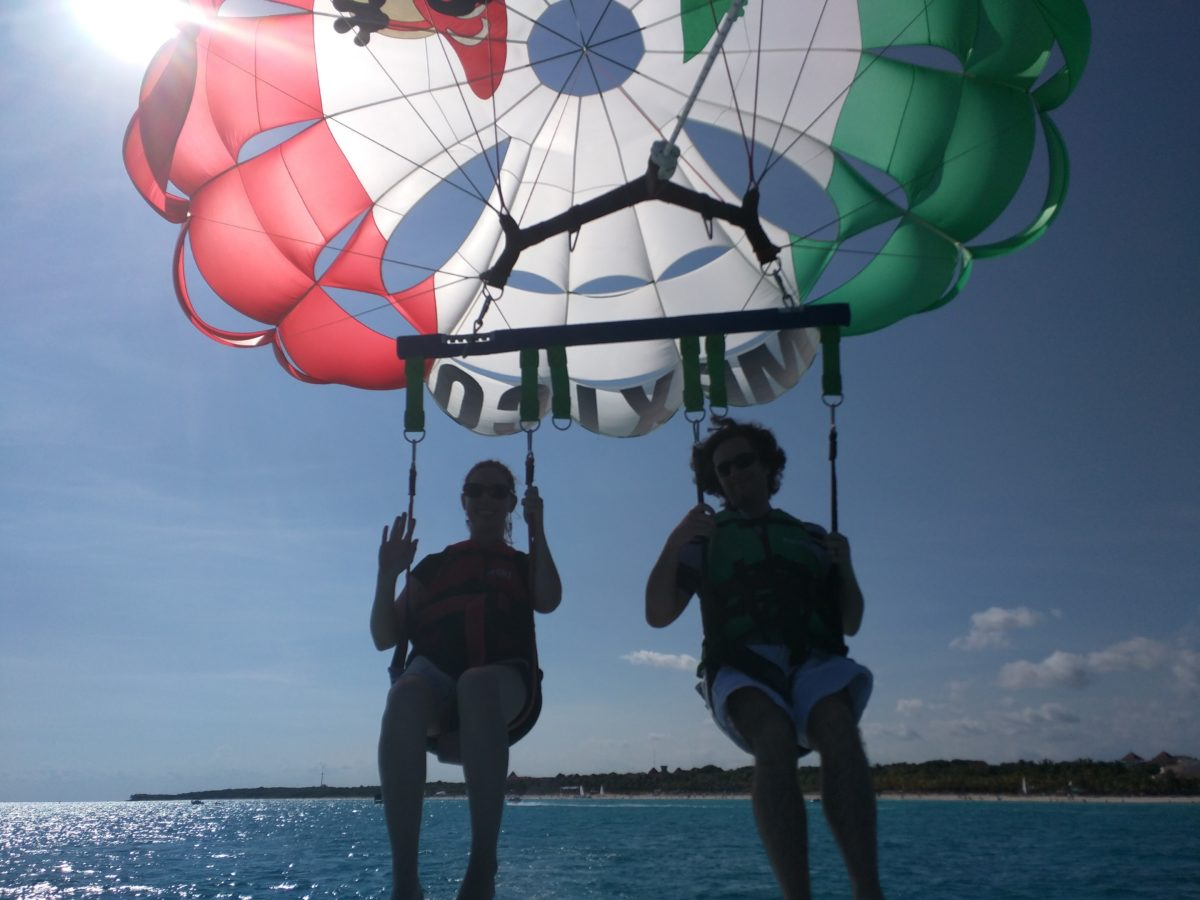 Psychological Suspense Inspiration while Parasailing